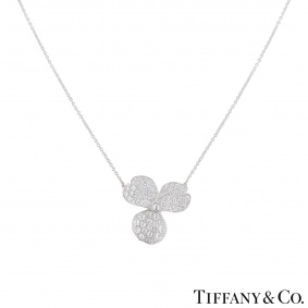 Tiffany & Co. Platinum Diamond Paper Flowers Pendant
